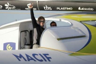 Record tour du monde solitaire: Gabart et son vaisseau spatial