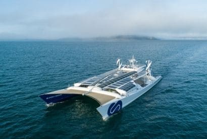 Ship of the future - Energy Observer with hydrogen, wind and sun