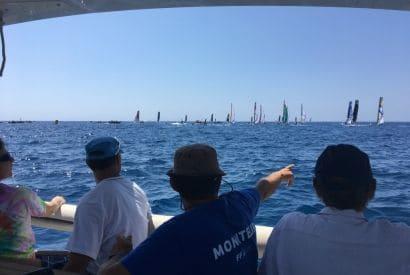 Assister à l'arrivée du Tour de France à la Voile en bateau ... solaire !