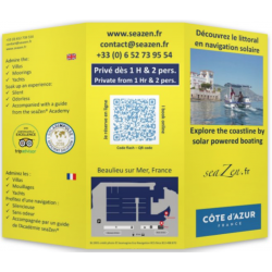 Brochure printed with flash code