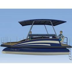 New Solar Boat SunWave S1-COA view