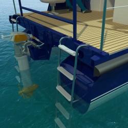 2 nouvelles échelles de bain arrière permettent à un groupe de passer un long moment convivial à l'arrière