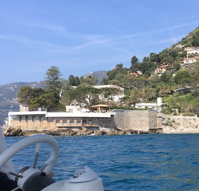View of the Cap Estel Hotel from the sea