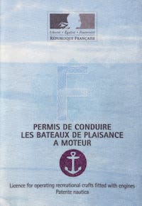 Official boating licence in France