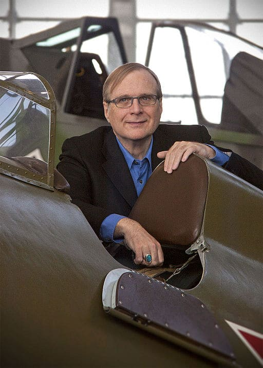 Paul Allen at Flying Heritage Collection, located at Paine Field, Everett, Washington, United State