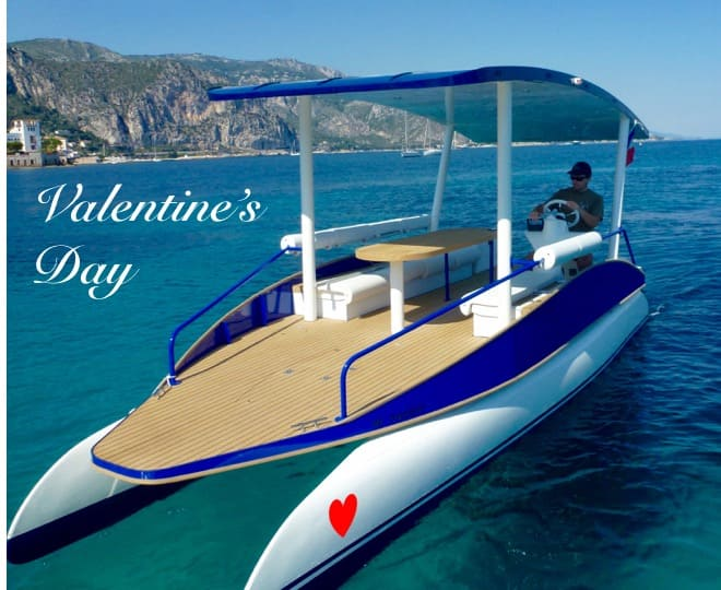 Gift idea for Valentin's day. Offer a boat club membership or a sea trip