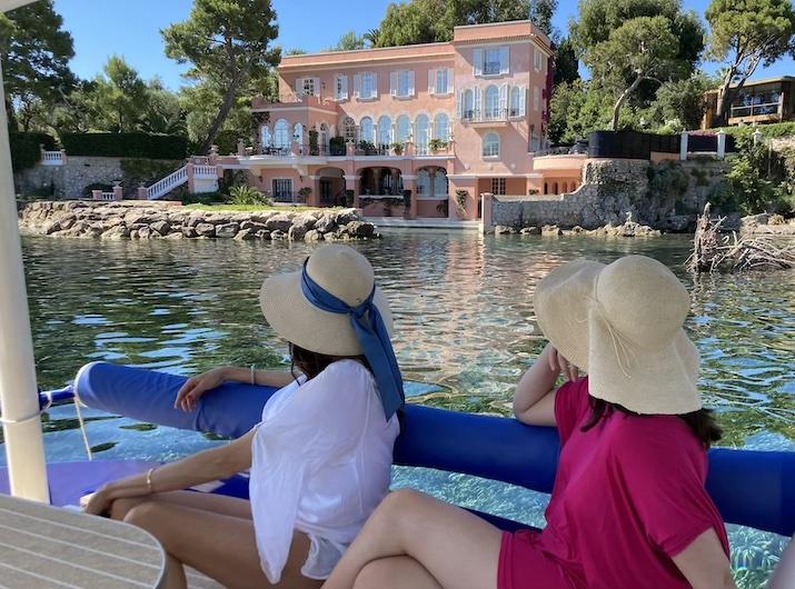 Vue de la Fleur du Cap dite Villa de David Niven depuis la mer