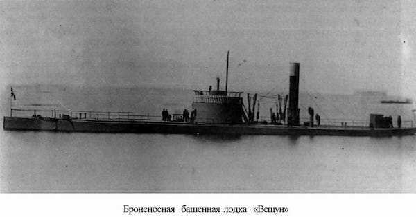 The first Russian steam battleship, from 1865, is a floating battery