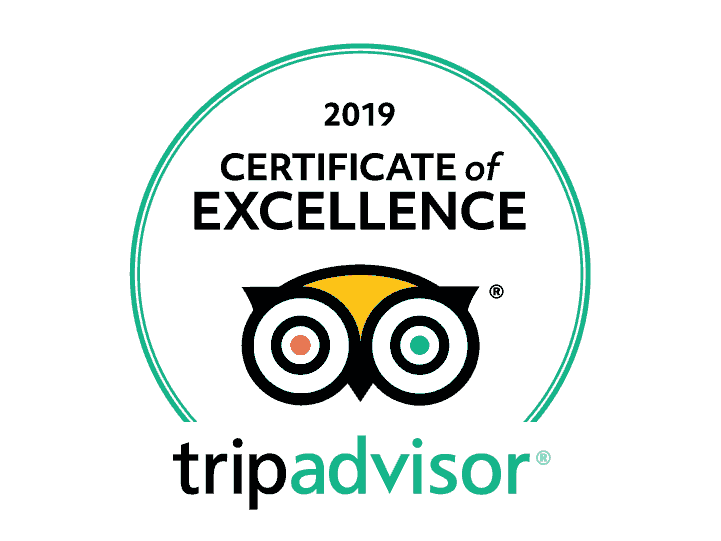 Certificat of excellence 2019 by Trip Advisor
