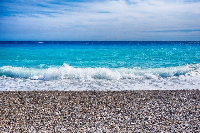 Nice sea, from the French Riviera